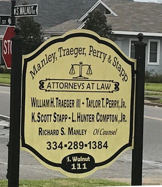 Manley Traeger Demopolis Office Sign
